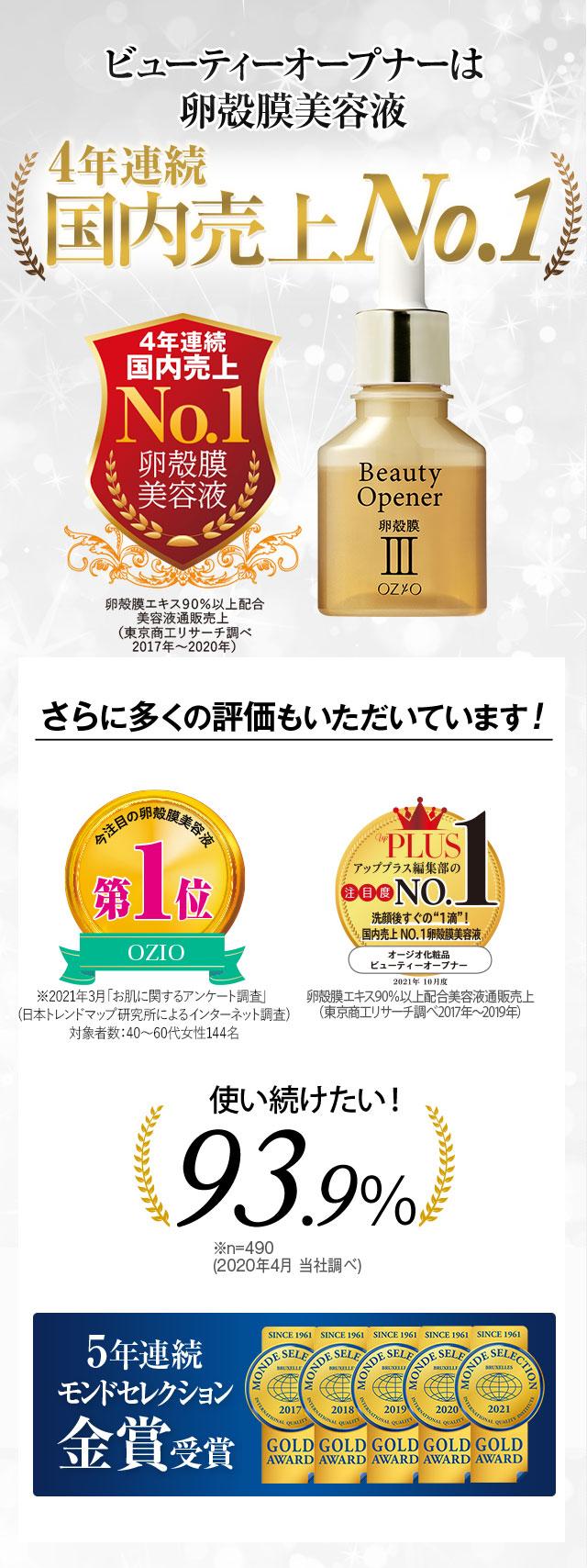 ビューティーオープナーは国内売上No.1