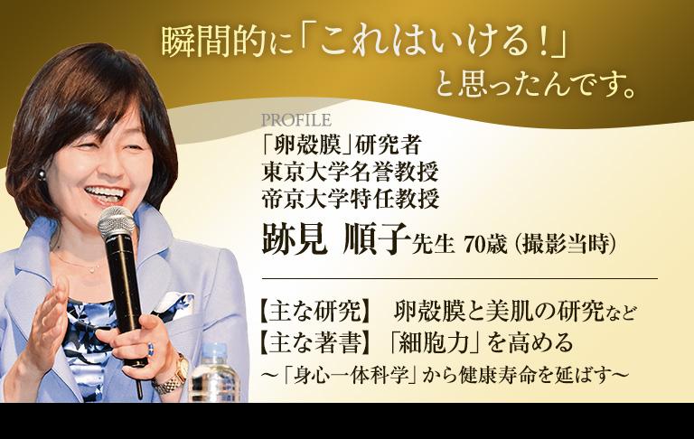 東京大学名誉教授 東京農工大学客員教授 跡見順子先生