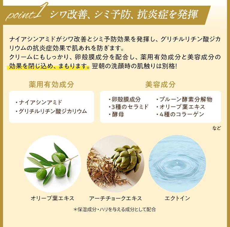 シワ改善、シミ予防、抗炎症を発揮