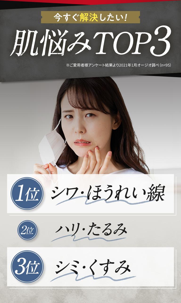 肌悩みTOP3